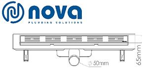 Душовий канал з решіткою з нержавіючої сталі з майданчиком під керамічну плитку NOVA 5201 (400 мм х 65 мм), фото 3