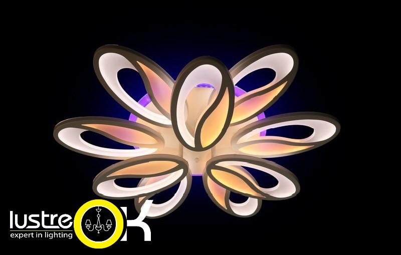 Люстра светодиодная с пультом  8090/6+3 LED 3color dimmer