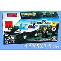Конструктор BRICK 457796/124 полицейская машинка, фигурка, 39дет, в кор-ке, 14-7-4,5см