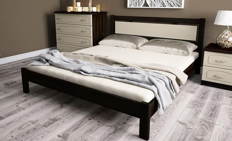 Кровать двуспальная, деревяная МЕРКУРИЙ (Гермес)