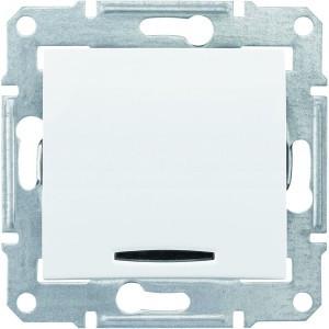 Вимикач 1кл з підсвічуванням Sedna білий SDN1400121 Schneider Electric