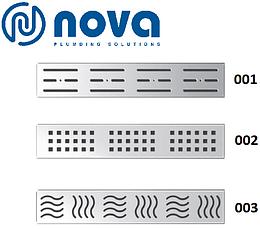 Душовий канал з решіткою з нержавіючої сталі з майданчиком під керамічну плитку NOVA 5204 (700 мм х 65 мм), фото 3