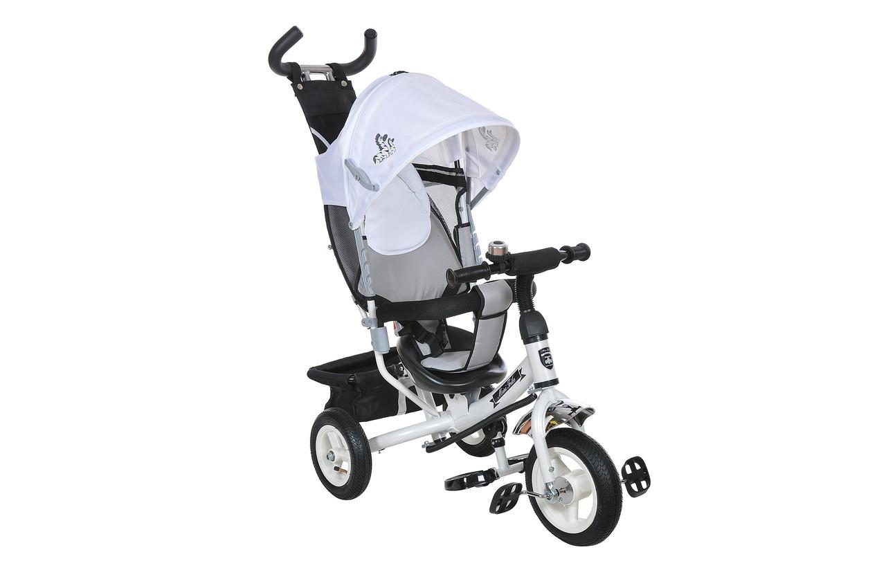 Велосипед триколісний Mini Trike надувні колеса (білий/сірий). Вага 10.7 кг (104х47х108)