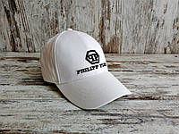 Кепка бейсболка блайзер филипп плейн Philipp Plein Филипп Плейн белая (реплика), фото 1