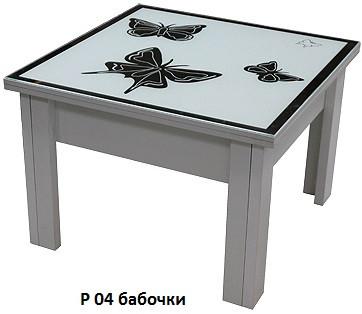 Стол-Трансформер 1 накладка стекло пескоструй зеркало (Luxe Stutio TM)