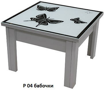 Стол-Трансформер 1 накладка стекло пескоструй зеркало (Luxe Stutio TM), фото 2