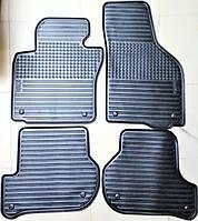 Оригинальные коврики ковры салона резиновые (компл.4шт.) для Шкода Октавия А5 Чехия SkodaMag