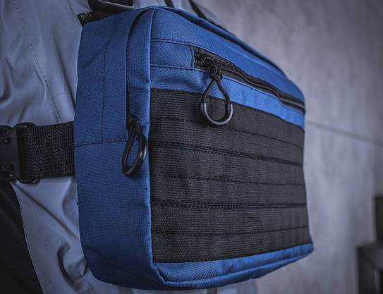 Нагруднаяя мужская сумка BEZET / Бананка / Поясная сумка  / Барсетка (синяя), фото 2