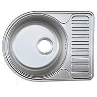 Кухонная мойка Platinum 5844 Satin 0,8мм
