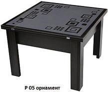 Стол-Трансформер 1 накладка стекло пескоструй зеркало (Luxe Stutio TM), фото 3