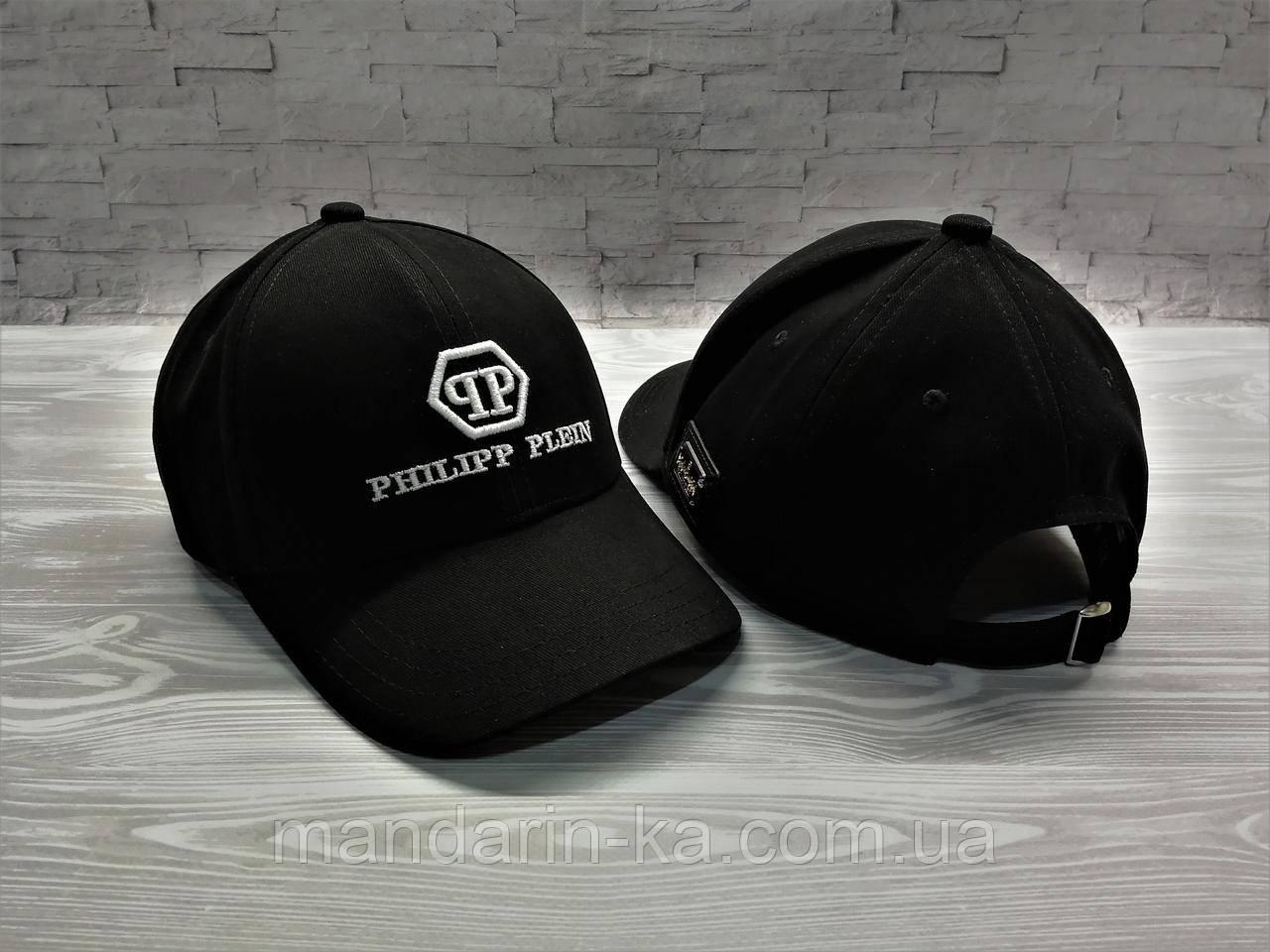 Кепка бейсболка блайзер  Philipp Plein Филипп Плейн черная (реплика)