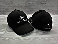 Кепка бейсболка блайзер  Philipp Plein Филипп Плейн черная (реплика), фото 1