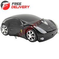 Беспроводная мышь Porsche, мышка машинка, черная, УЦЕНКА A10
