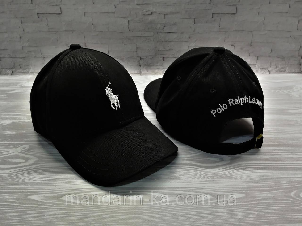 Мужская кепка черная брендовая реплика
