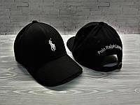 Кепка бейсболка блайзер Polo Ralph Lauren Ральф Лорен черная (реплика)