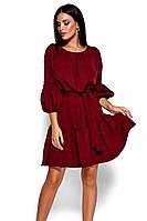 (S, M, L) Повсякденне марсалове плаття Polina