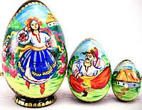 Пасхальное яйцо матрешка, ручная работа, авторская художественная роспись народное творчество УКРАИНА