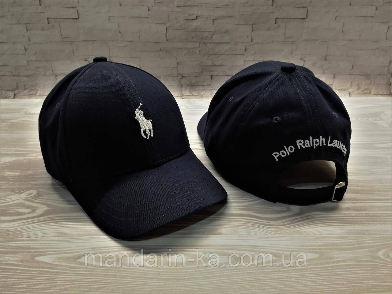 Кепка бейсболка блайзер Polo Ralph Lauren Ральф Лорен темно-синяя (реплика)
