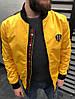 Мужской бомбер желтый Гучи ветровка с логотипом Gucci (реплика)