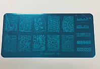 Пластина для стемпинга, прямоугольная 12*6 см