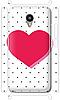 Чехол для телефона сердце Meizu M2 Note силиконовый пластиковый