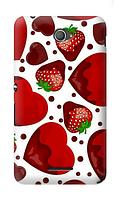 Чехол для телефона клубника Sony E4 силиконовый пластиковый