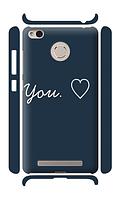 Чехол для телефона люблю тебя Xiaomi Redmi 3A / Redmi 3S / Redmi 3 PRO силиконовый пластиковый