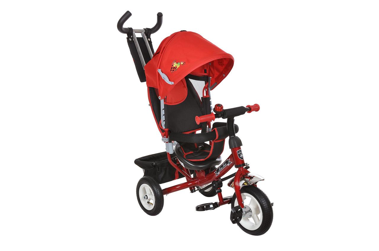 Bелосипед трехколесный Mini Trike надувные колеса (красный/черный). Вес 10.7 кг (104х47х108)