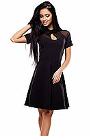 (S, M) Жіноче класичне чорне плаття Ankora