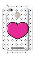 Чехол для телефона розовое сердце Xiaomi Redmi 3A / Redmi 3S / Redmi 3 PRO силиконовый пластиковый
