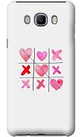 Чехол для телефона крестики сердечки Samsung J7 2016 J710F силиконовый пластиковый