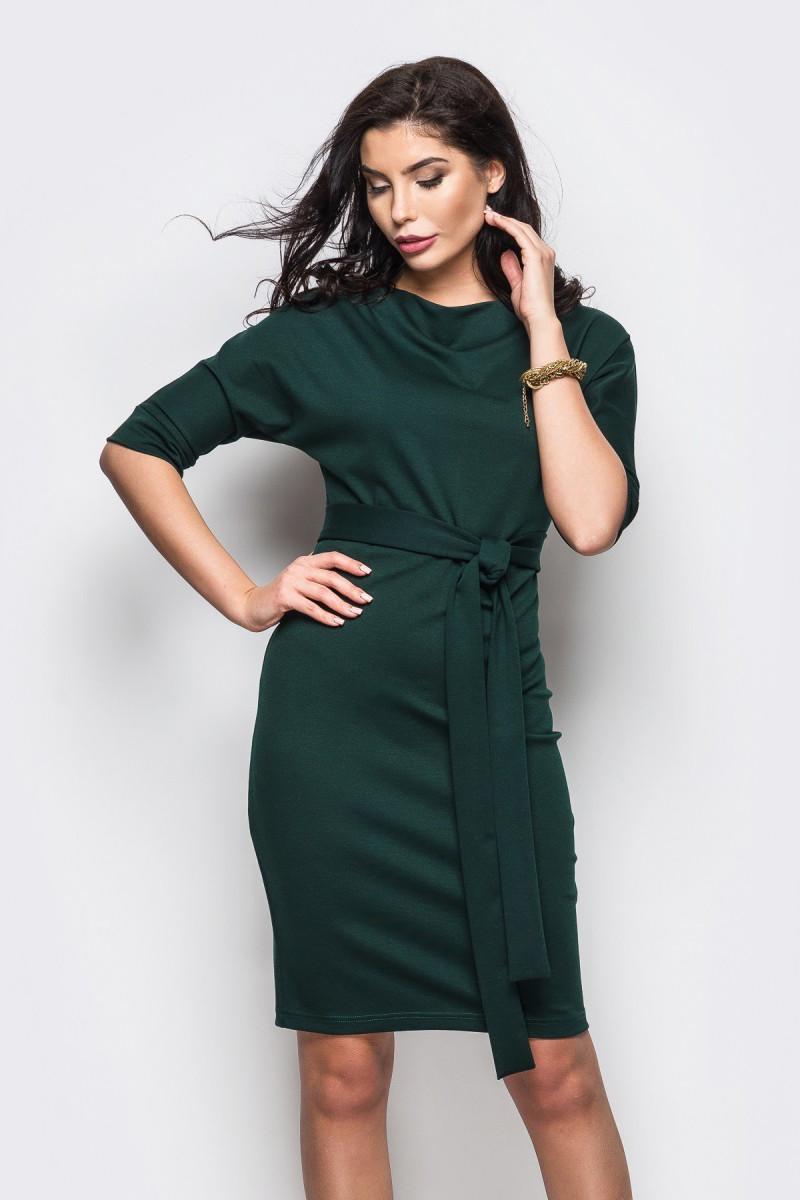 S, XL   Класичне темно-зелене плаття-міді Sofia