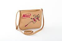 Маленькая женская сумка с вышивкой беж флай_а