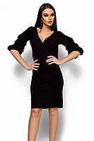 (S / 42-44) Вишукане чорне вечірнє плаття Charry