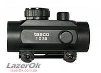 Коллиматорный прицел Tasco 1х35 с креплением 11мм и 21мм Weaver, фото 1