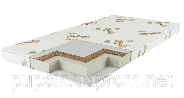 Матрас в детскую кроватку КП 7 см (кокос-поролон) жёлтый