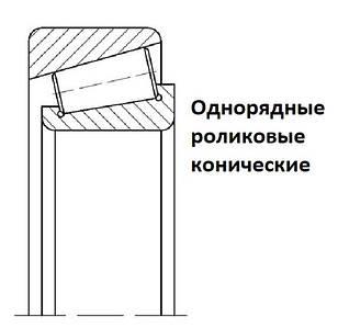 2007ХХХ Подшипники однорядные роликовые конические