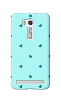 Чехол для телефона голубые сердечки Asus Zenfone 3 Max / ZC520TL силиконовый пластиковый