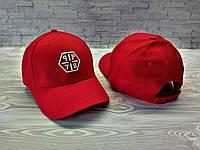 Кепка бейсболка блайзер снепбек Philipp Plein Филипп Плейн красная (реплика)