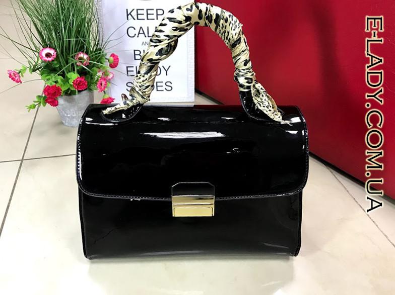 d50bcc236d98 Черная лаковая сумка-саквояж: продажа, цена в Николаеве. женские ...
