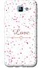 Чехол для телефона влюбленность Samsung A8 2016 силиконовый пластиковый