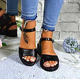 Босоножки женские черные натуральная кожа новые в наличии, фото 7
