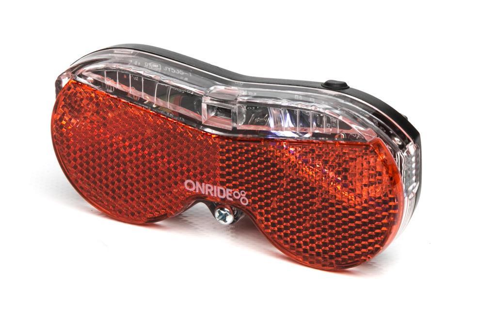 Задняя Мигалка для велосипеда на багажник Onride Screen на батарейках