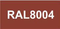 Металлосайдинг Блок Хаус терракот RAL 8004. Металлосайдинг под бревно терракот RAL 8004