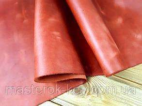Кожа натуральная Крейзи Хорс т.1,5-1,8мм цвет красный