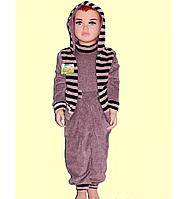 Костюм велюровый тройка р 74-122 мальчик, девочка детский
