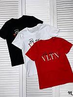 Женская футболка копия Валентино Valentino до 52 размера выбор цветов