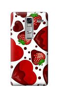 Чехол для телефона клубника LG ZERO силиконовый пластиковый