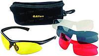 Очки Стрелковые Allen Pro Class 4 Lens Combo Set with Case. Линзы - поликарбонат (Прозрачный- Желтый- красный- Дымчатый). (2275)