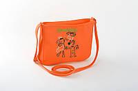 Маленькая женская сумка с вышивкой оранжевый флай_склад